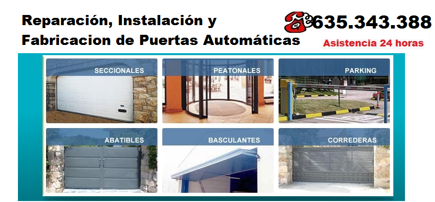 Reparacion cortinas metalicas Alginet